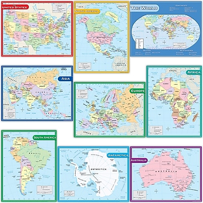 Teacher Created Resources Map Charts Set 9 Charts, 22