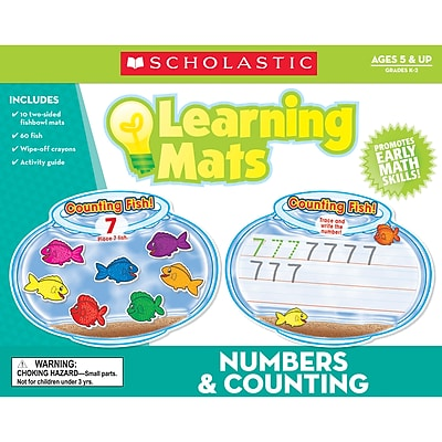 Teacher's Friend® Numbers & Counting Learning Mat, Grades K - 2
