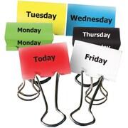 """Top Notch Teacher Products® Days of The Week Teacher Clip Set, 2"""", 6/PK, 4 PK/BD"""