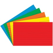 """Top Notch Teacher Products® 3"""" x 5"""" Lined Border Index Card, Primary Colors, 2/Bd"""