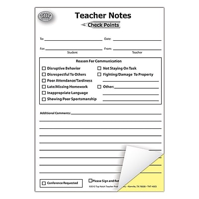 Top Notch Teacher, Teacher Notes Check Points Booklet, 6 sets with 50 sheets/pk (TOP4923)