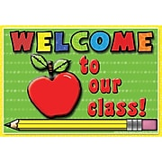 Top Notch Teacher Products Welcome to Our Class Smooth Personal Postcards, Multicolor, 30/Pack (TOP5122)