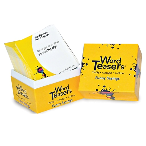 Word Teasers® Funny Sayings Flash Cards, Grade 2 -9, 150/Box