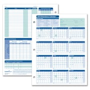 ComplyRight™ 2019 Attendance Calendar Card, White, Pack of 25 (A4000W25)