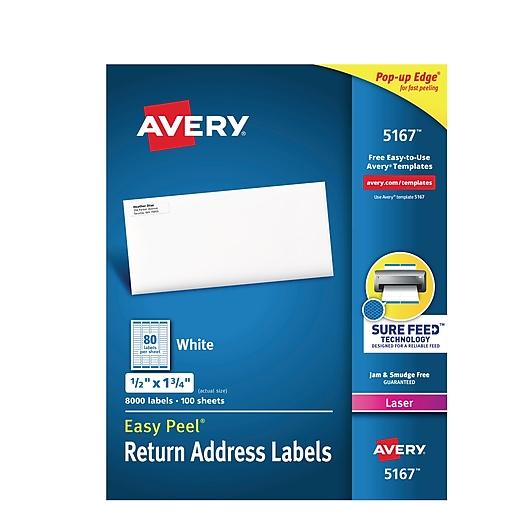 Avery Laser Return Address Labels With Easy Peel X - Staples return address labels template