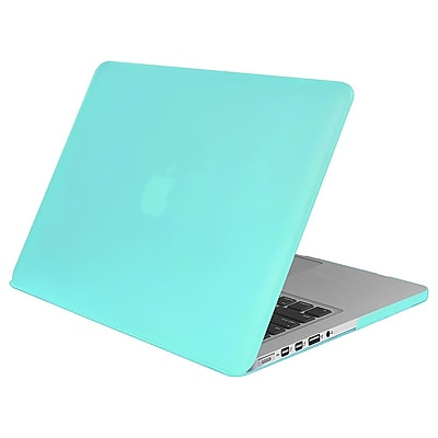 Insten Aqua Blue Rubberized Rubber Hard Cover Case for Apple Macbook Pro Retina Display 13
