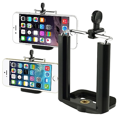 Insten® Holder Tripod Adapter Monopod Mount Adapter Bracket 1974196 for Most Smartphones Black