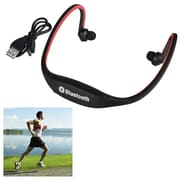 Insten® 2055768 Universal Hands-Free Wireless Bluetooth 3.0 Sport Headphone with Microphone, Red