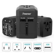 Insten Universal All-In-One Worldwide Travel Adapter Plug Kit AC Wall Socket Power Charger with 2.5A Dual USB Charging Ports