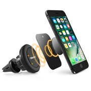 BasAcc Black Universal 360 Degree Rotating Joint Ball Magnetic Car Mount Air Vent Phone Holder For iPhone Samsung Galaxy