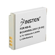 Insten® 238937 3.7 VDC 1600mAh Rechargeable Li-ion Battery For Canon NB-6L; White