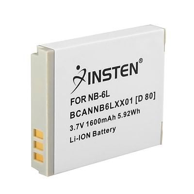 Insten® 238937 3.7 VDC 1600mAh Rechargeable Li-ion Battery For Canon NB-6L; White