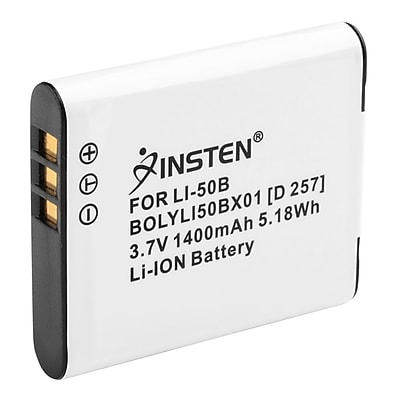 Insten® 238943 3.7 VDC 1400mAh Rechargeable Li-ion Battery For Olympus Li-50B/1010/1020/1030; White