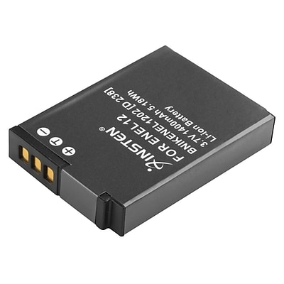 Insten® 257966 3.7 VDC 1400mAh Rechargeable Li-ion Battery For Nikon EN-EL12; White