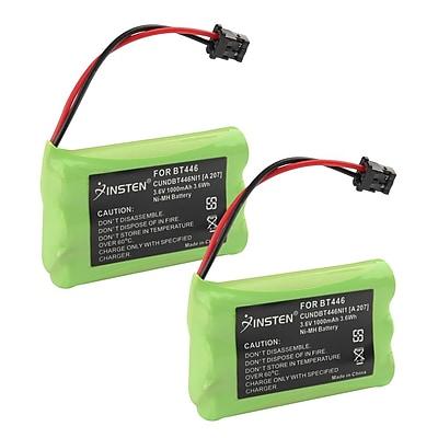 Insten Uniden BT446 Cordless Phone Battery 3.6V 1000mAh, 2 Pack