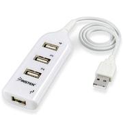 Insten® 4-Port USB Hub; White
