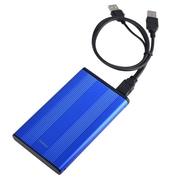 "Insten 2.5"" SATA External Aluminum Hard Drive HDD Enclosure, Blue"