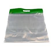"""Zipfile Storage Bags, Green, 14"""" x 13"""", 25/Pk (BOBZFH1413G)"""