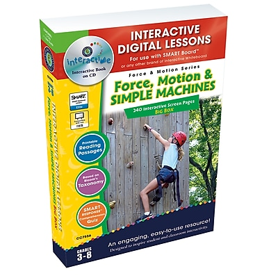 Interactive Whiteboard Resources, Force, Motion & Simple Machines Big Box