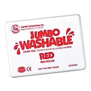 Center Enterprises® Jumbo Washable Stamp Pad, Red (CE-5505)