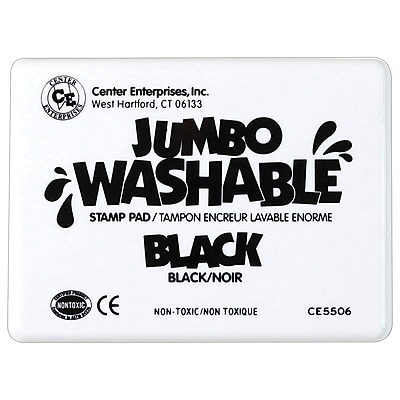 Center Enterprises® Jumbo Washable Stamp Pad, Black (CE-5506)