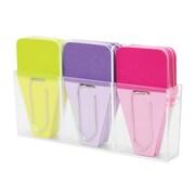 Clip-Rite® Solid Clip-Tab, Lime/Purple/Fuchsia, 8/Bundle