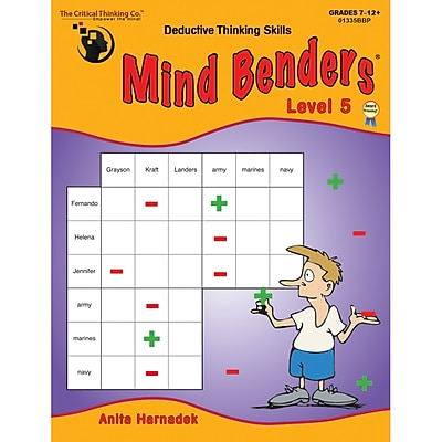 Critical Thinking Press™ Mind Benders Book 5 Deductive Thinking Skills Book, 7 - 12 Grade