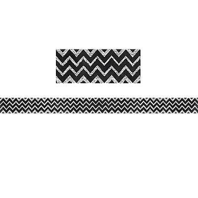 Creative Teaching Press Chevron in Chalk 2.25 x 35' Borders, Black/White (CTP0234)
