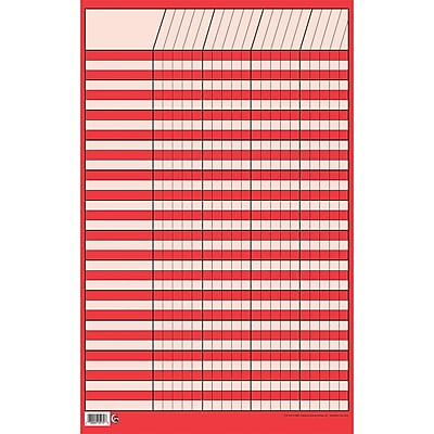 Creative Teaching Press™ Incentive Charts, Small Vertical, Red