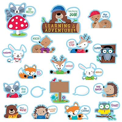Creative Teaching Press Woodland Friends Peek-Overs Bulletin Board, 40/Set (CTP7071)