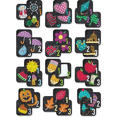 Creative Teaching Press Chalk It Up! Year-Round Seasonal Calendar Days 12 Month, 436/Pack (CTP8513)