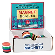 """Dowling Magnets 1 1/8""""(Dia) Button Magnets, Assorted Colors (DO-711D)"""
