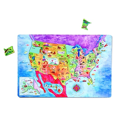 Dowling Magnets® USA Magnetic Puzzle Map, 12