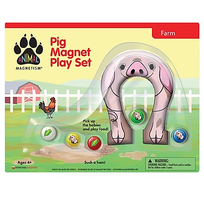 Dowling Magnets Animal Magnetism Pig Magnet Play