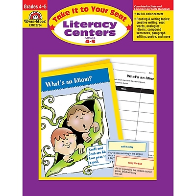 Evan-Moor® Take It To Your Seat Literacy Centers, GR: 4-5