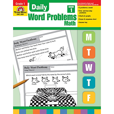 Evan-Moor® Daily Word Problems, Grade 1