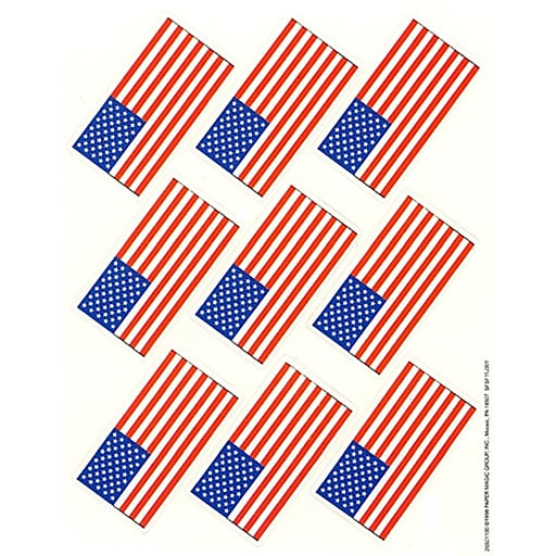 Eureka U.S. Flags Giant Stickers, 36 ct. (EU-650110)