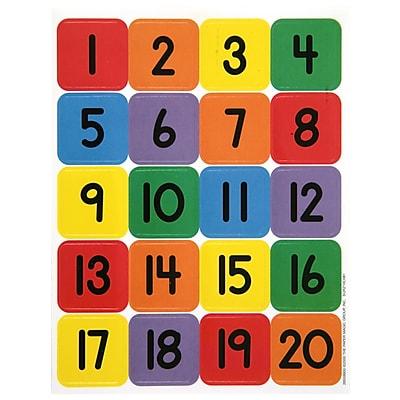Eureka® Stickers, Numbers 1 - 20 (EU-655990)