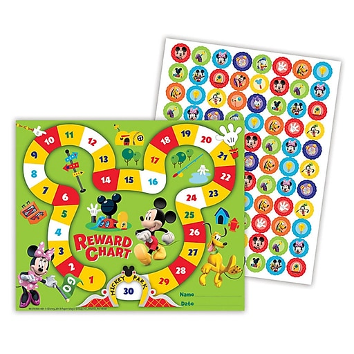"Eureka® Mickey Park Mini Reward Chart, Mickey Mouse Clubhouse, 5"" x 6"" (EU-837036)"