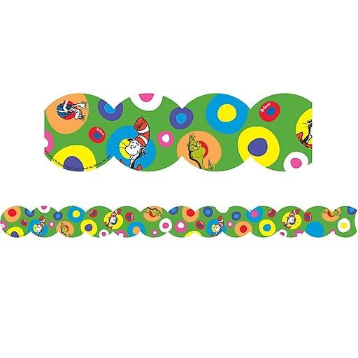"Dr. Seuss Extra Wide Die-Cut 3.25"" x 12' Deco Trim, Multicolor (EU-845077)"