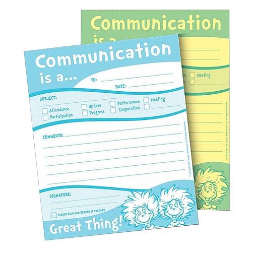 """Eureka® Dr. Seuss™ Communication Duplicate Notes, 4"""" x 6"""" (EU-863204)"""