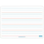 """Flipside Dual Sided Magnetic Dry Erase Board, Red & Blue Ruled, 9"""" x 12"""""""
