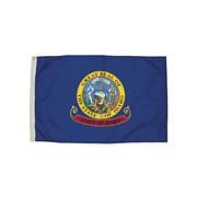 Flagzone Idaho Flag with Heading and Grommets, 3' x 5', Each