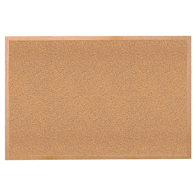 Ghent® Wood Frame Natural Corkboard, 24