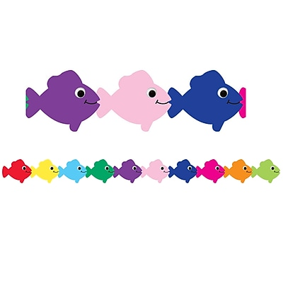Hygloss® Multi-Color Fish Die Cut Classroom Border