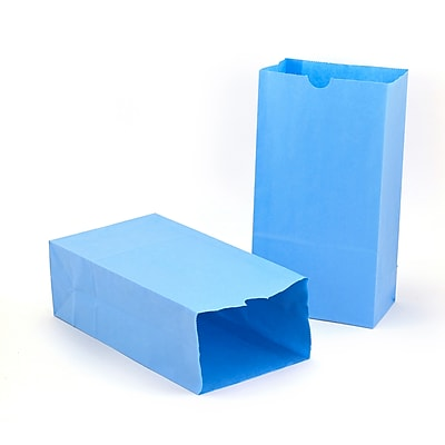 Colored Craft Bags, Sky Blue