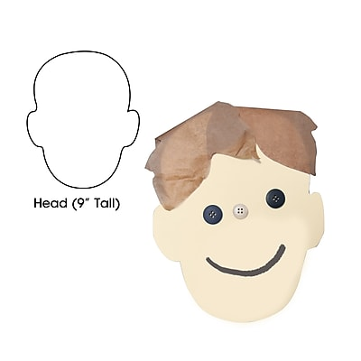 Hygloss® Head Big Cut-Outs Paper Shape, 9