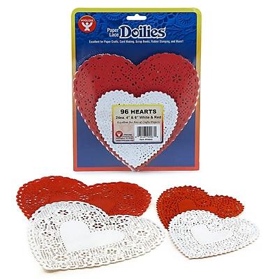 Hygloss® Heart Paper Lace Doilies, 46/PK, 3 PK/BD