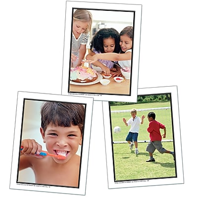 Key Education Photographic Language Development Cards, Talk About A Childs Day