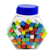 Assorted Color Blank 16mm Foam Dice, Tub of 200